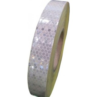 White retro-reflective tape 2cm x 50m