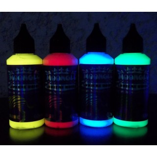INVISIBLE BLACKLIGHT FLUORESCENT PAINT KIT