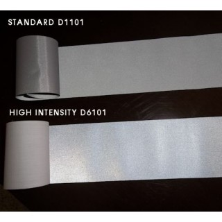 High intensity reflective sew on tape