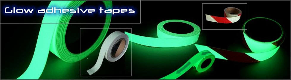 Photoluminescent adhesive tapes